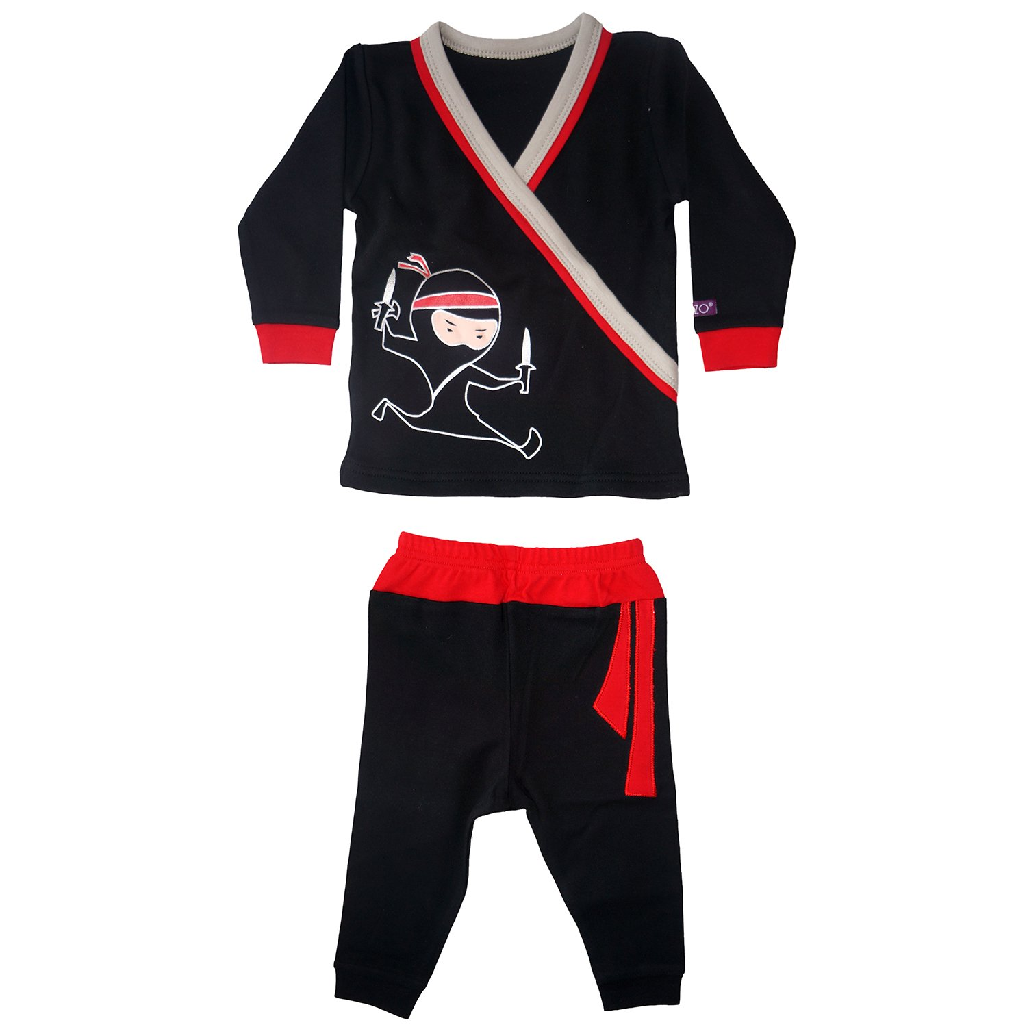 Sozo Boys' Toddler Ninja Long Jammies