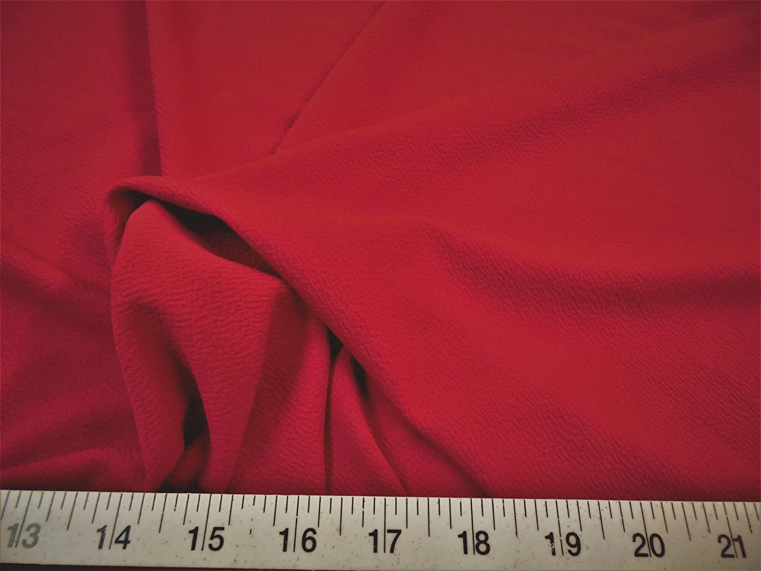 Paylessfabric Fabric Liverpool Textured 4 Way Stretch Scuba Ruby Red LP12