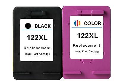2Piece cartucho de tinta para HP 122 XL 122 x l negro y tricolor ...