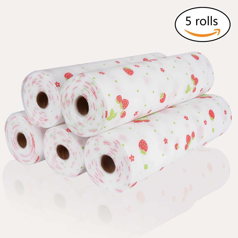 Zhide bella Dots modello non-adhesive Shelf Paper Drawer Liner set (2misure disponibili), Rosebud, Rosebud