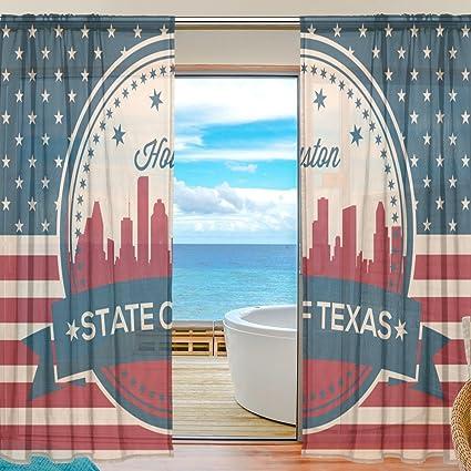 Amazon.com: Vintage American Flag Texas State Houston Skyline Window ...