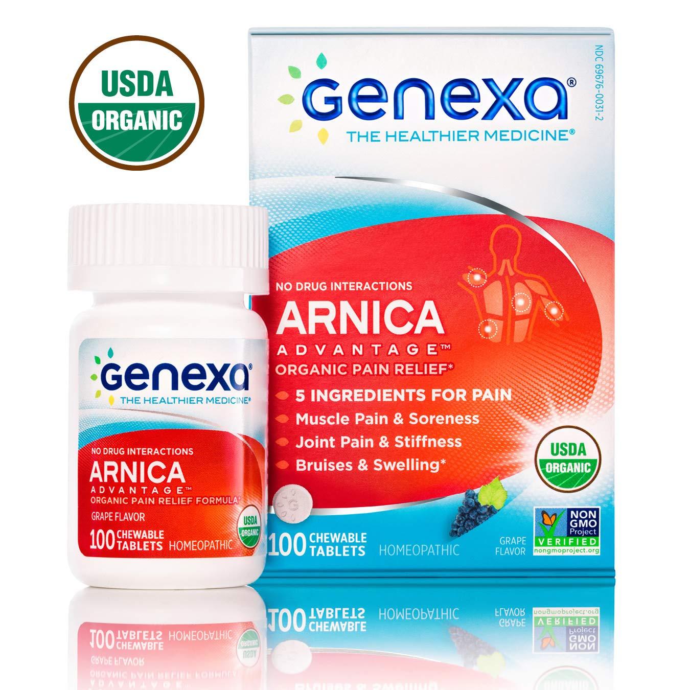 Genexa Arnica Advantage | Certified Organic & Non-GMO, Physician  Formulated, Homeopathic | Pain
