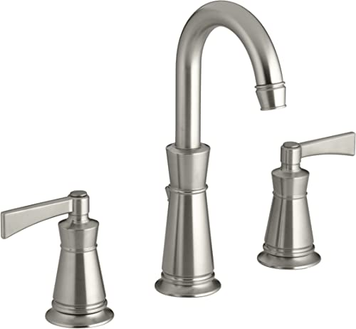 KOHLER K-11076-4-BN Archer Lavatory Faucet with 8-Inch Centers, Vibrant Brushed Nickel
