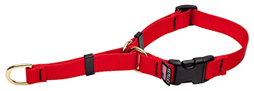 Cetacea Soft Martingale Collar with Quick Release, Large, Red