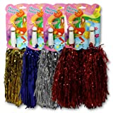 6 x Cheerleader Pompons 32cm 20 Gramm Pompon Karneval Fasching Party Tanzwedel