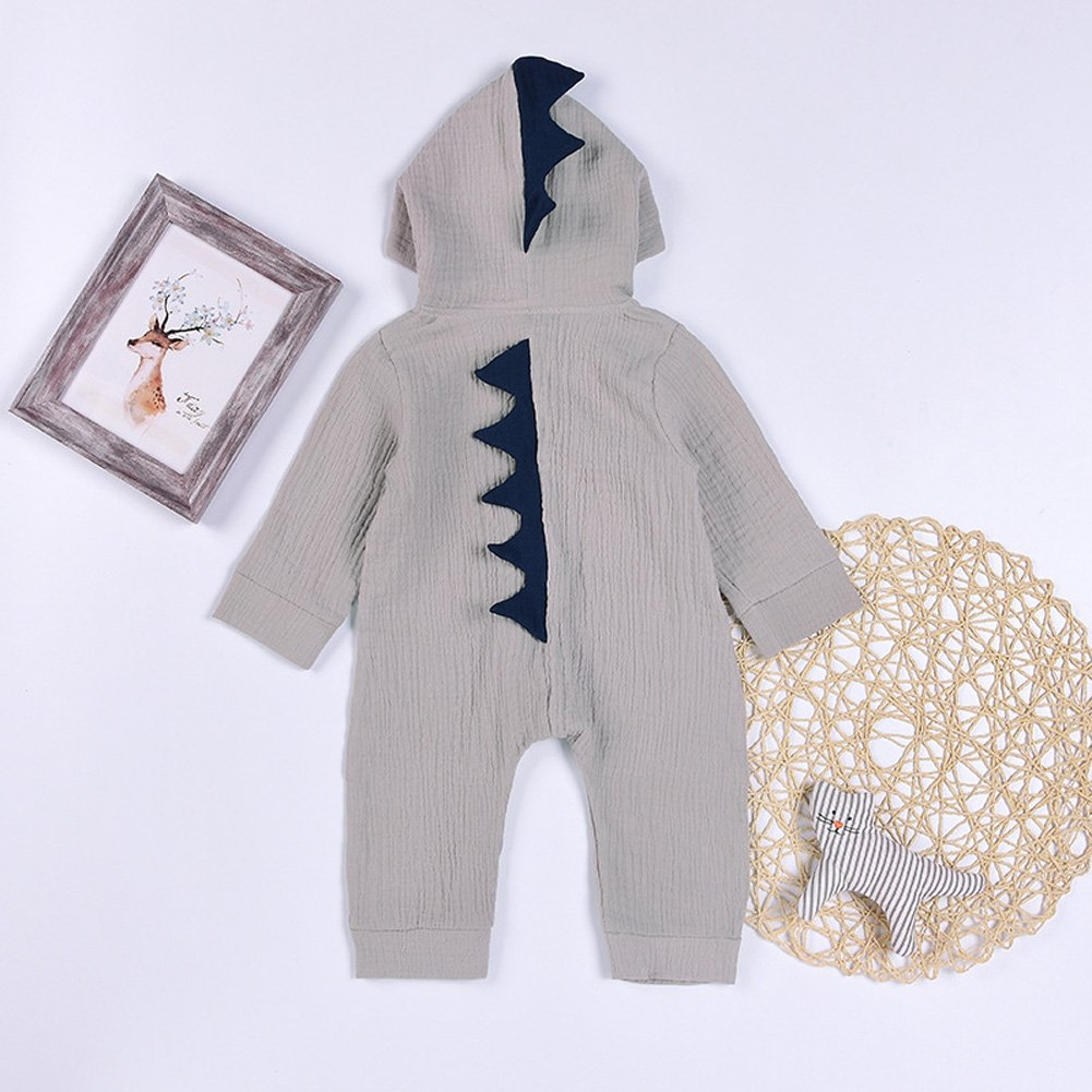 Minetom Beb/é Reci/én Nacido Manga Larga Dinosaurio De La Historieta Abrigo Ropa Una Pieza Peleles Pijamas Mameluco Ni/ños Ni/ñas Monos