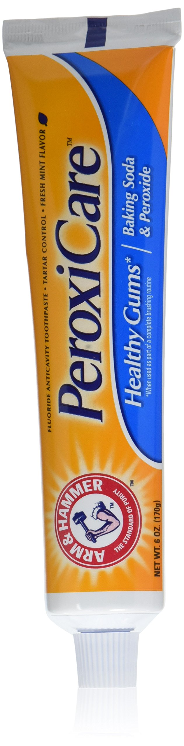 Arm & Hammer PeroxiCare Deep Clean Toothpaste, 6 Oz (Pack of 6) (Packaging May Vary)
