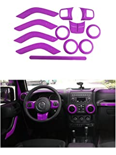 Danti 36Pcs Car Interior Accessories Decoration Cover Air Conditioning Vent /& Door Speaker /& Water Cup Holder /& Headlight Switch /& Window Lift Button Covers for Jeep Renegade 2015-2020 Red