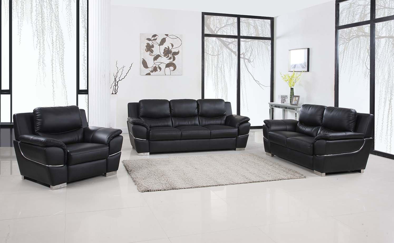 Awesome Amazon Com Blackjack Furniture 4572 Black Sofa Set Leather Ibusinesslaw Wood Chair Design Ideas Ibusinesslaworg