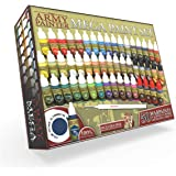 The Army Painter Miniature Painting Kit Mega Paint Set 3 for Model Paints with Wargamer Regiment Miniatures Paint Brush