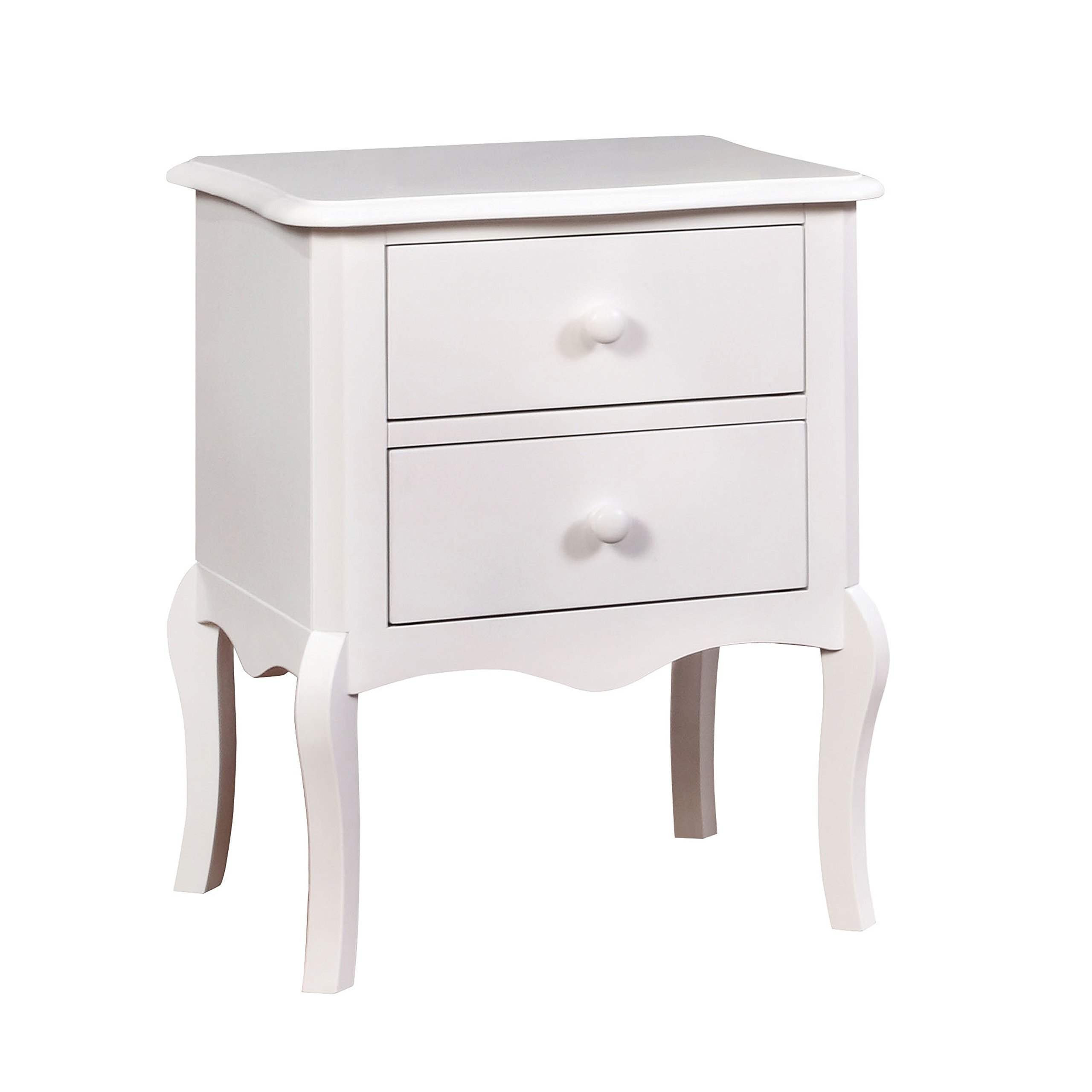 HOMES: Inside + Out IDF-AC325WH Edna Nightstand Childrens, White