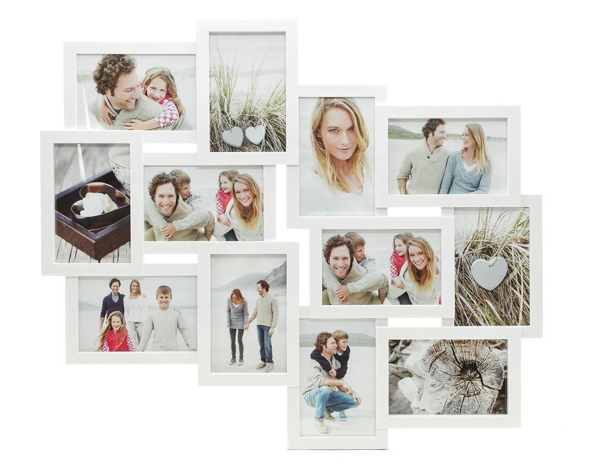 Amazon.de: levandeo Fotocollage Bilderrahmen mit Glasscheiben für 12 ...