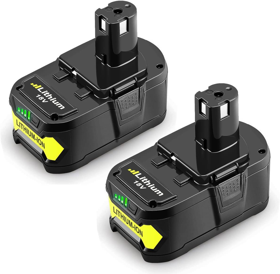 Powtree Li-ion 3000mAh P108 Ryobi 18V Li-ion Replacement Battery Compatible with Ryobi P102 P103 P105 P107 P108 P109 Cordless Tool Battery