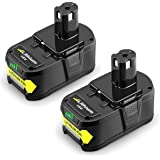 Powilling 2Pack 5.0Ah 18V Replacement Battery for Ryobi 18V Lithium Battery P102 P103 P105 P107 P108 P109 Ryobi ONE…