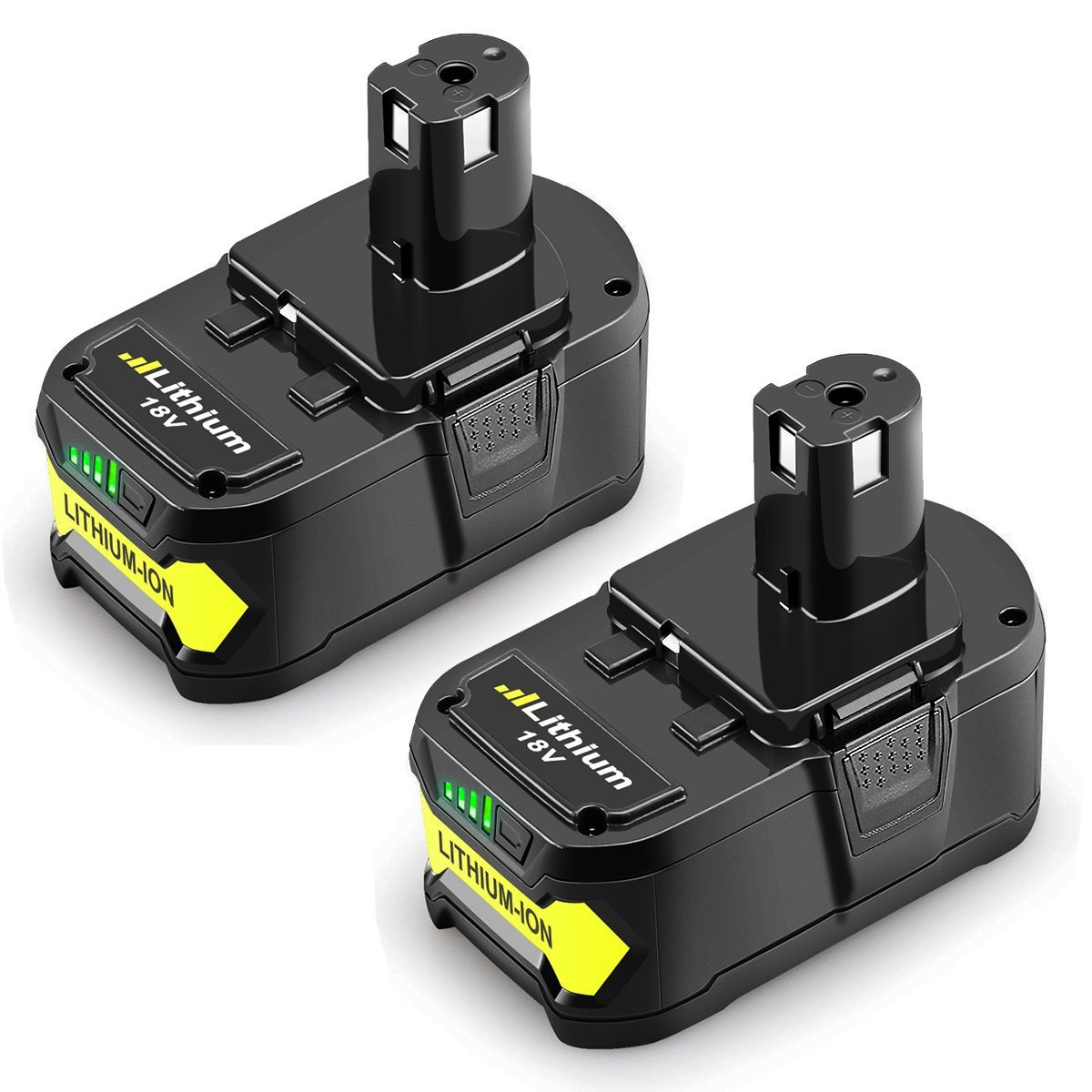 Powilling 2Pack 5.0Ah 18V Replacement Battery for Ryobi 18V Lithium Battery P102 P103 P105 P107 P108 P109 Ryobi ONE+ Cordless Tool by Powilling