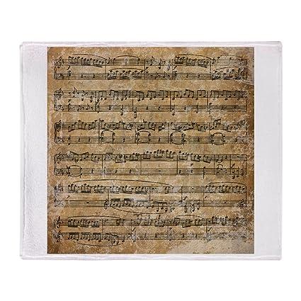 58a0fe6b7728 CafePress Vintage Sheet Music Soft Fleece Throw Blanket, 50