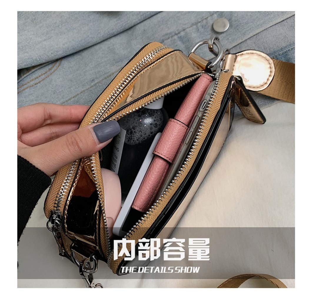 Color : Blue, Size : 18117cm OUSHINA French Small Bag of Foreign Womens Handbags Popular Network Red Messenger Bag