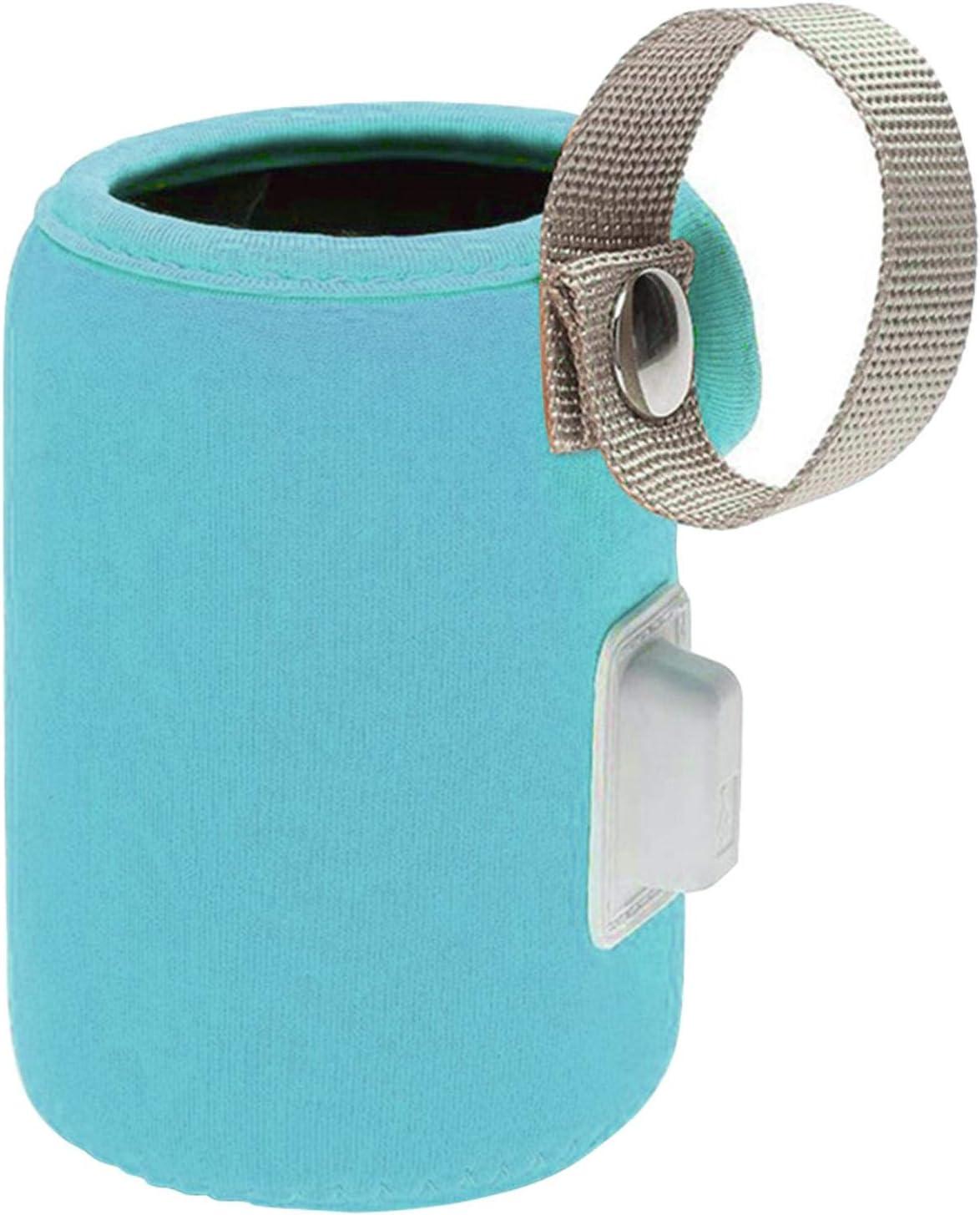 CALIDAKA USB Milk Bottle Warm,Portable Travel Baby Bottle Warmer-Cover with Handle,Multifunction Coffee Tea Mug Beverage Warming Bag