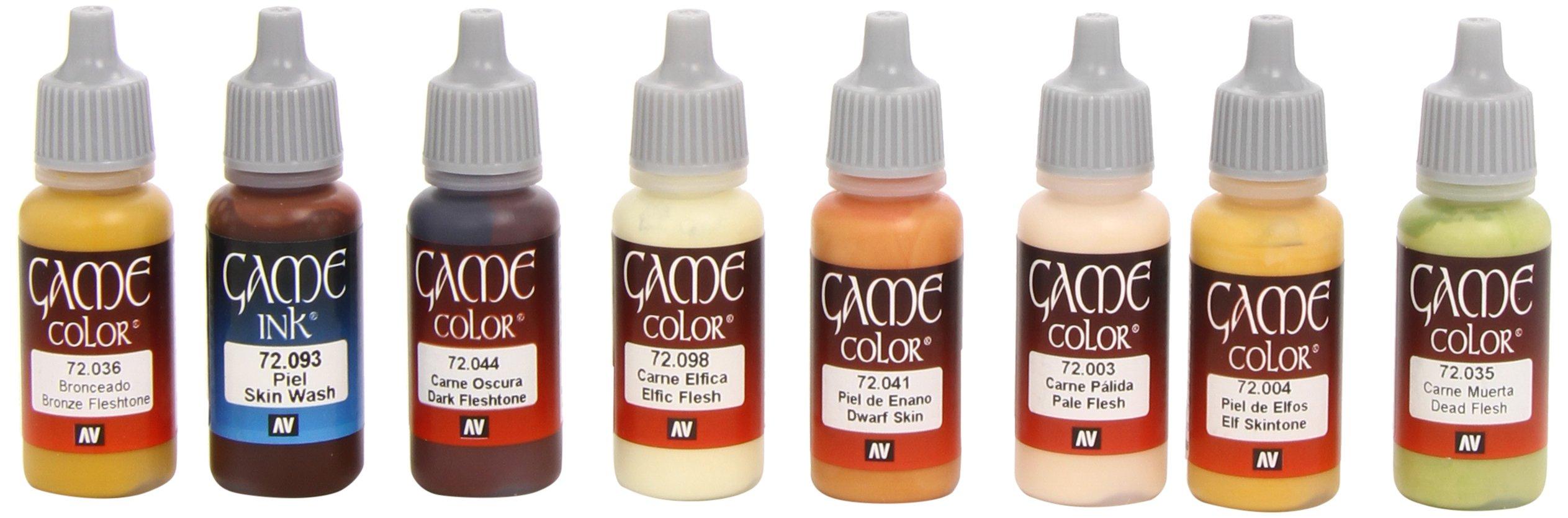 Vallejo Skin Tones Paint Set (8 Color) Paint by Vallejo (Image #1)
