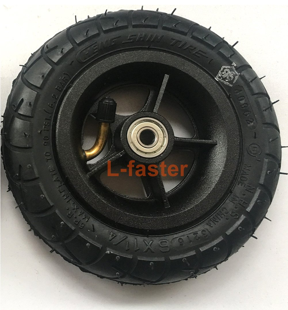 L-faster 150MM Scooter Inflation Wheel With Aluminium Alloy Hub 6'' Pneumatic Tyre With Inner Tube Electric Scooter 6 Inch Pneumatic Tire (black)