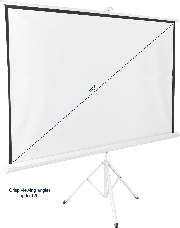 Amazon.com: VIVO Proyector portátil pantalla de proyección ...