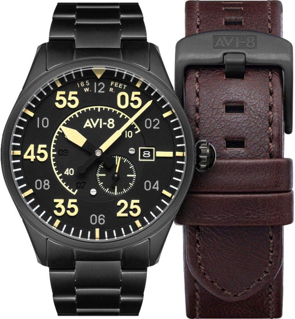 AVI-8 Analog Black Dial Men's Watch-AV-4073-33