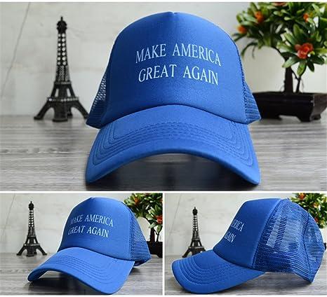 Trucker gorro ajustable Gorra hacer América gran malla de nuevo gorras de béisbol, Azul