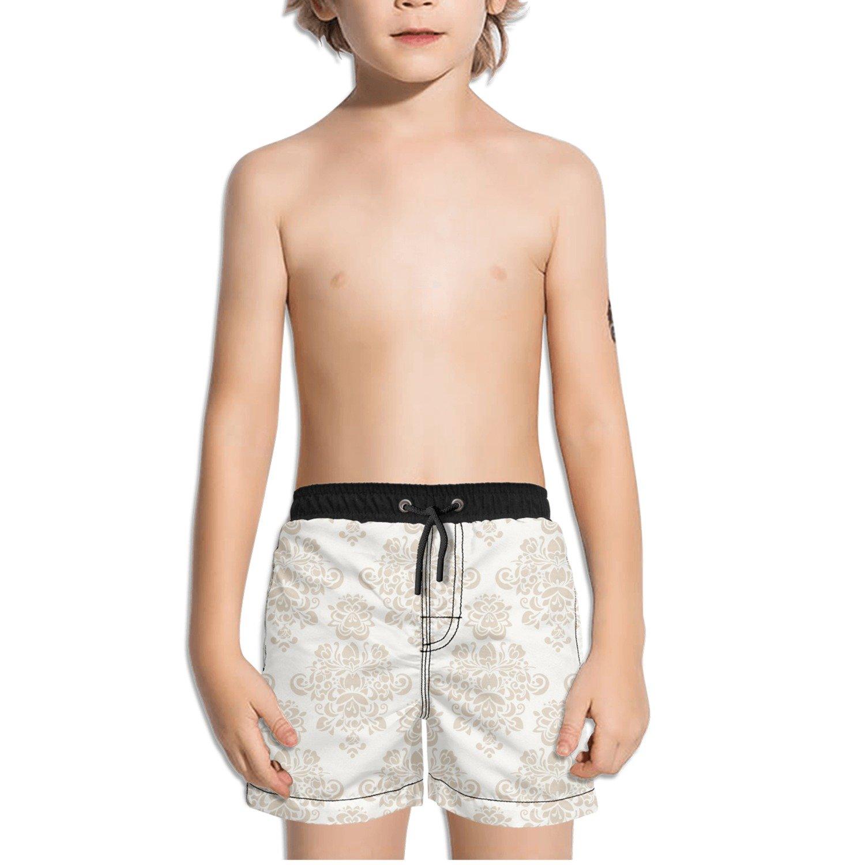 Ouxioaz Boys Swim Trunk Seamless Floral Flower Beach Board Shorts