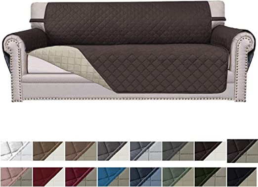 Furniture Protector Couch Cover for Dogs Pets Waterproof Elastic Reversible Home