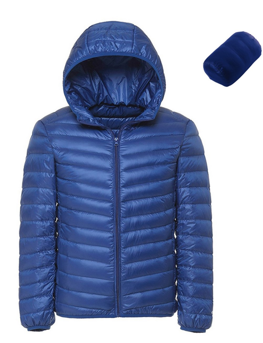 8209803da5b340 Men s Winter Hooded Packable Down Lightweight Jacket NT0905 product image