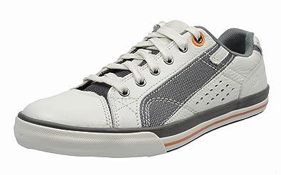Skechers 63701 Herren Sneaker LederTextil, Weiß, Größe 48,5