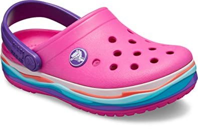 475b583db Crocs Kids - Crocband Wavy Band Clog - neon Magenta  Amazon.co.uk ...