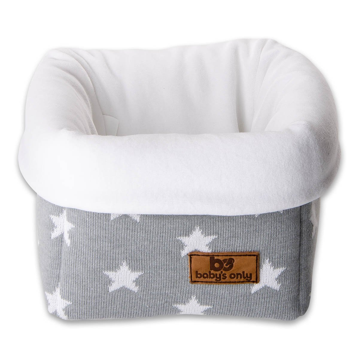 Baby's Only Corbeille de rangement Star gris et blanc - Gris Baby' s Only 913995