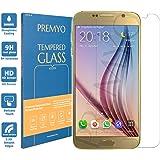 PREMYO verre trempé Samsung S6. Film protection Samsung Galaxy S6 avec un degré de dureté de 9H et des angles arrondis 2,5D. Protection écran S6