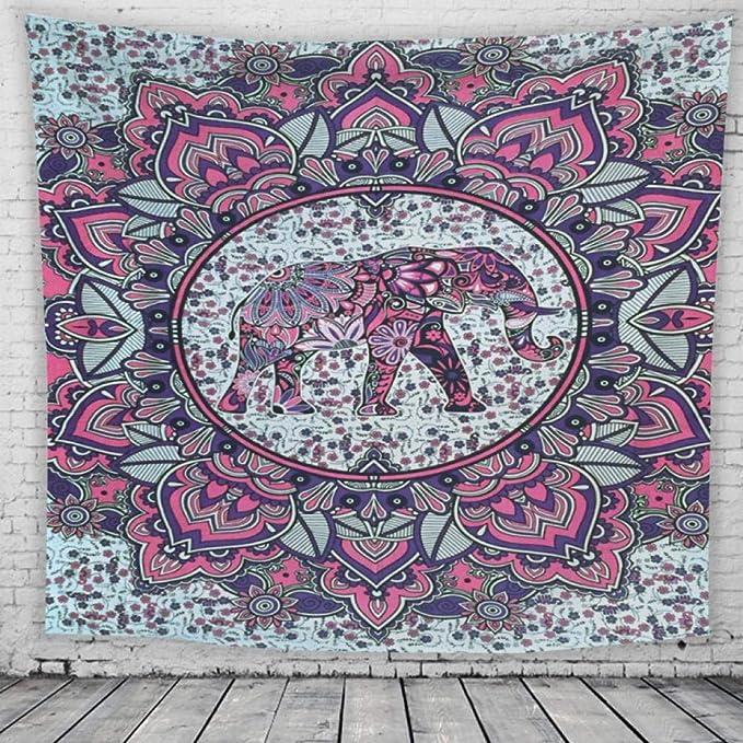Tapiz De Pared Grande La India Púrpura Mandala Y E...