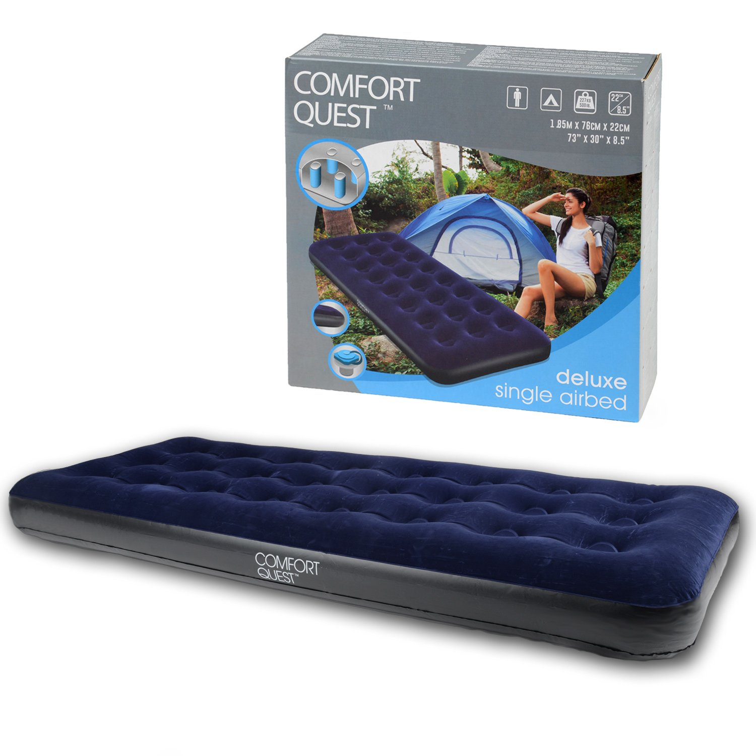 beds essential airbed tech electric size intex raised kit pump rest built with in bed queen inflatable fiber