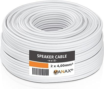 Manax Sc2400w 100 Lautpsrecherkabel 2x4 00 Mm Cca Elektronik