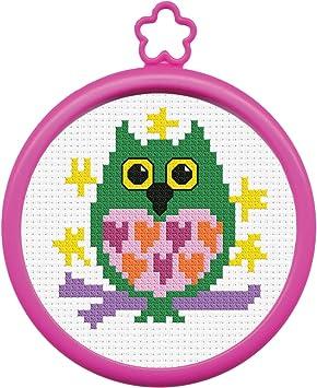 "Bucilla My 1st Stitch Gnome Mini Counted Cross Stitch Kit-3/"" Round 14 Count"