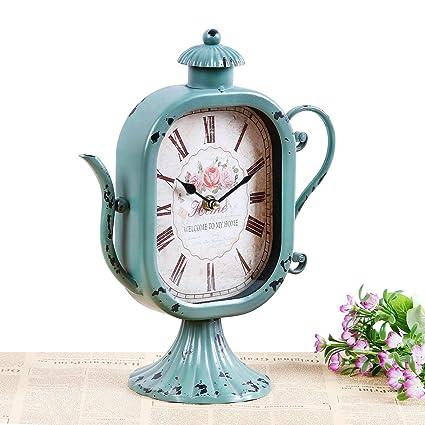 Collector chinos creativo personalidad Tetera Simplex, artesanía, Cafe Mute Relojes Joyas, mar azul