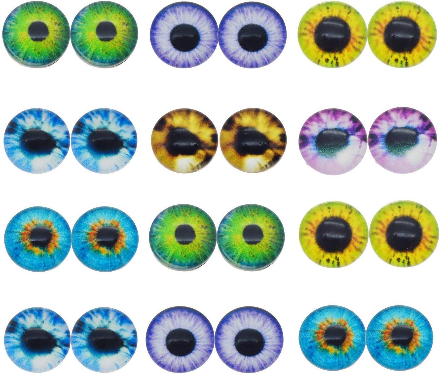 9mm Acrylic Doll Eyes Green New Plastic Eye 60pc !!