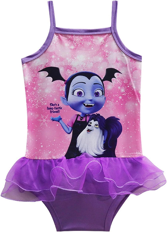 Amazon.com: pcloud Vampirina para niñas traje de baño de una ...