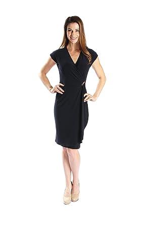 8aea49c8588 Joseph Ribkoff Midnight Blue Wrap Over V-Neck Dress Style 171011 Size 6