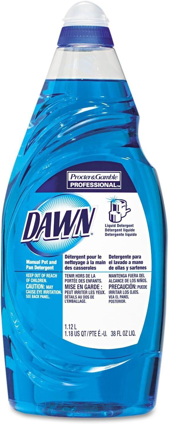 Dawn 45112 Liquid Dish Soap, 38 oz, Original, PK8, Blue