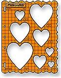 Fiskars ShapeTemplate - Plantilla, diseño corazones