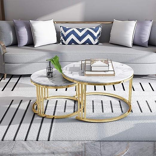GSH- Side table Juego de 2 mesas de té, Mesa de Centro ...