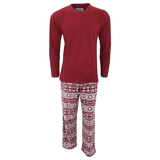 Universal Textiles Mens Fairisle Fleece Pajama Pants/Bottoms With ...
