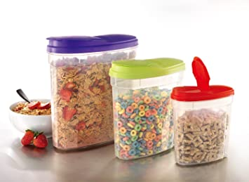 Amazoncom Large Plastic CerealSnack Keeper Dry Food Storage