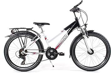Bicicleta infantil 24 pulgadas color blanco – Mammut Girl Trekking Bike – Shimano 21 marchas, luz, portaequipajes: Amazon.es: Deportes y aire libre
