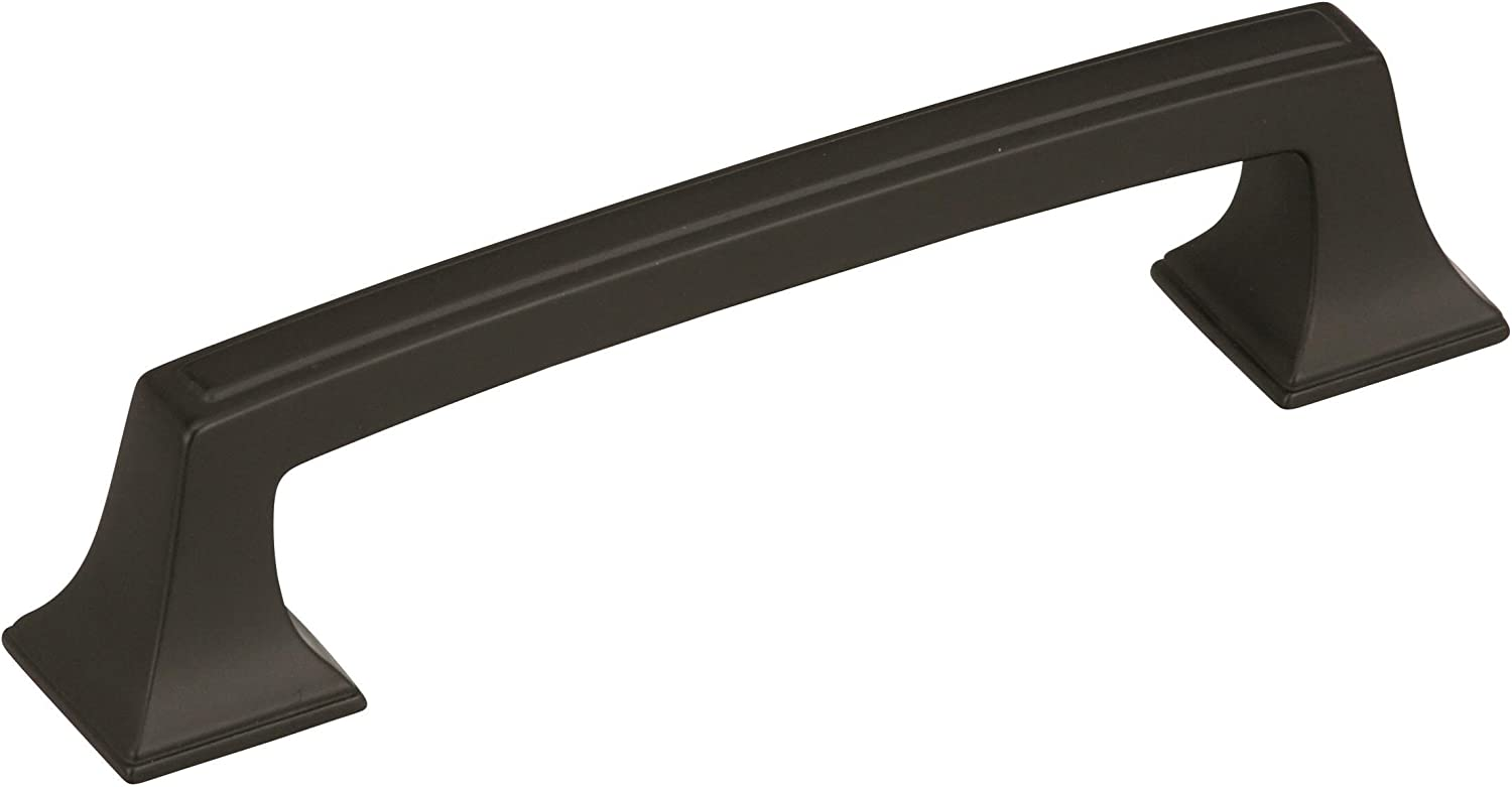 3-3//4 in Center-to-Center 96 mm Amerock BP53801BBR Kane 3-3//4 Center Cabinet Cup Pull Black Bronze
