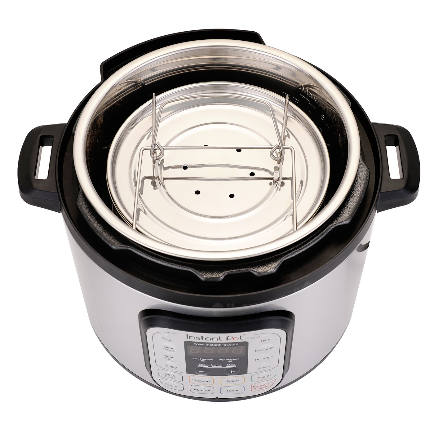 Aozita Stackable Steamer Insert Pans with Sling for Instant Pot Accessories 8 Quart - Food Steamer for Pressure Cooker Pot in Pot Cooking, Upgrade Interchangeable Lids Included by Aozita (Image #4)